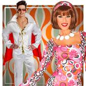 60er, 70er und 80er Jahre Kostüme
