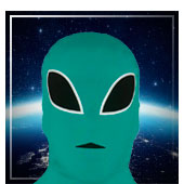 Accesorios de aliens astronautas y espacio
