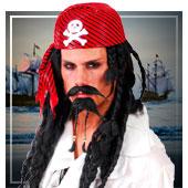 Accesorios de piratas, bucaneros y corsarios