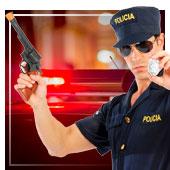 Armas de policías y presos