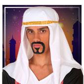 Barbas, bigotes y cejas de árabe e Hindús