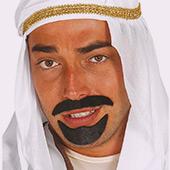 Barbes, moustaches et sourcils Arabes et Hindous