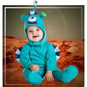 Disfraces de aliens, astronautas y espacio para bebe
