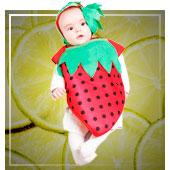 Disfraces de frutas, flores y plantas para bebe