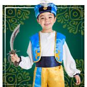 Disfraces de árabe e Hindús para bebe