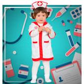 Disfraces de medicos y enfermeras para bebe