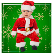 Disfraces de Mama Noel para Bebe