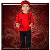 Disfraces de chinos, orientales, ninjas y geishas para bebe