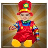 Disfraces de payasos, circo y arlequín para bebe