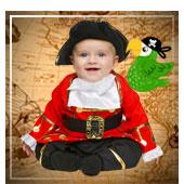 Disfraces de piratas, bucaneros y corsarios para bebe