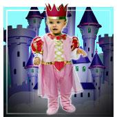 Disfraces de princesas, reyes y príncipes para bebe