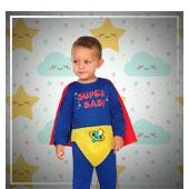 Disfraces de superheroes y comic para bebe