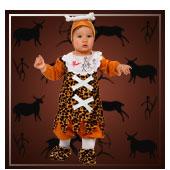 Disfraces de trogloditas y cavernicolas para bebe