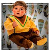 Disfraces de indios y vaqueros para bebe
