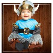 Disfraces de vikingos y bárbaros para bebe
