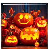 Guirnaldas y letreros para Halloween