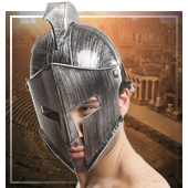 Römer, Ägypter und Griechen Helme