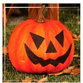 Decoração de abóbora de Halloween