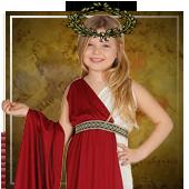 Déguisements de Romains, Égyptiens et Grecs.