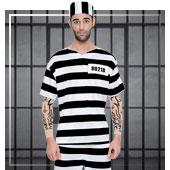 Déguisements de Police et Prisonnier pour hommes