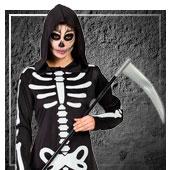 Günstige Skeletten und Tod Kostüme