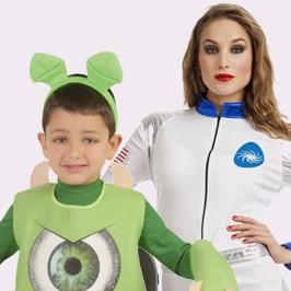 Disfraz de astronauta y aliens