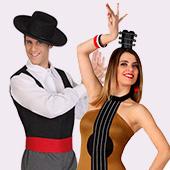 Disfraces de flamencas, sevillanas, toreros y cordobeses