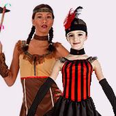Disfraces de indios y vaqueros