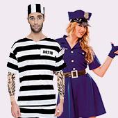 Disfraces de policías y presos