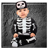 Disfraces de esqueletos y muerte para bebe