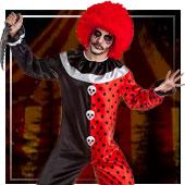 Disfraces de circo siniestro para hombre