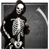 Disfraces de esqueletos y muerte para hombre
