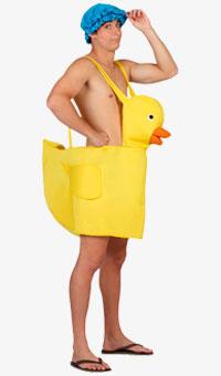 Disfraz de Patito de Goma para adultos