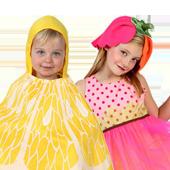 Disfraces infantiles de frutas y flores