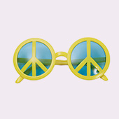 Gafas de hippies