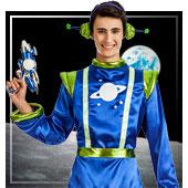Disfraces de aliens astronautas y espacio para hombre