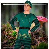 Disfraces de hadas, duendes, elfos y ninfas para hombre