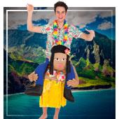 Hawaiianer Kostüme für Mann