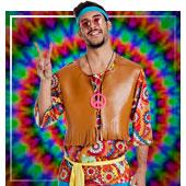 Disfraces de hippies para hombre