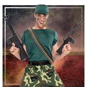 Disfraces de ejército y militares para hombre