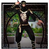 Chinesen, Asiaten, Ninjas und Geishas Kostüme für Mann