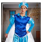 Disfraces de princesas, reyes y príncipes para hombre