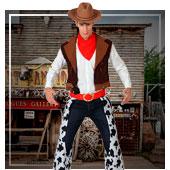 Fatos de Índios e Cowboys para Homem