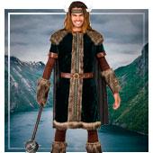 Disfraces de vikingos y bárbaros para hombre