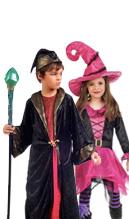 disfraz de bruja o hechicero para niños