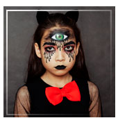 Maquillaje de halloween para niña