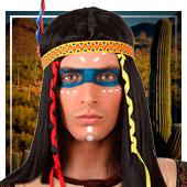 Maquillaje de indios y vaqueros
