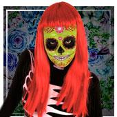 Mascaras de halloween para niña