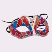 Mascaras de payasos, circo, arlequines y bufones