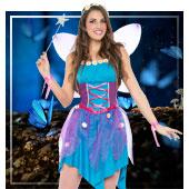 Disfraces de hadas, duendes, elfos y ninfas para mujer